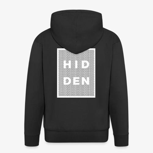 Hidden binary (white) - Men's Premium Hooded Jacket