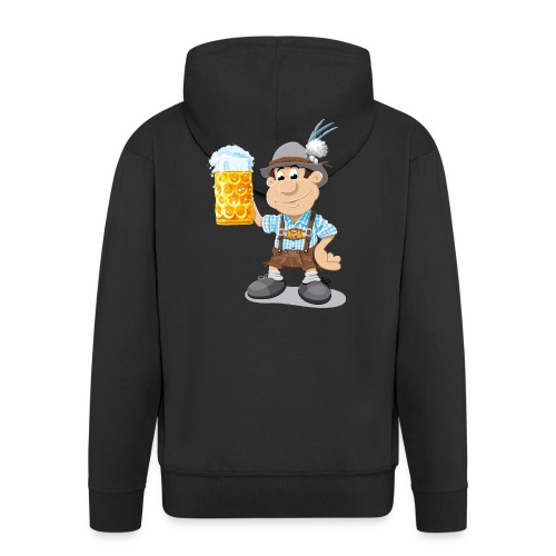 Bier Maßkrug Lederhosen Cartoon Man - Männer Premium Kapuzenjacke