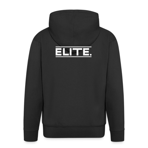 elite white large - Men's Premium Hooded Jacket