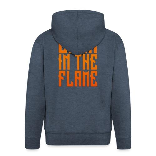 maglietta_born_in_the_flame - Felpa con zip Premium da uomo