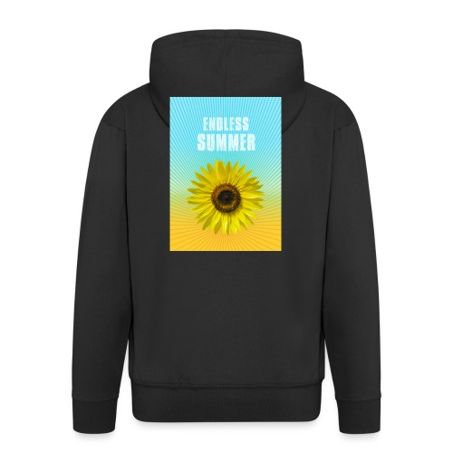 sunflower endless summer Sonnenblume Sommer - Men's Premium Hooded Jacket