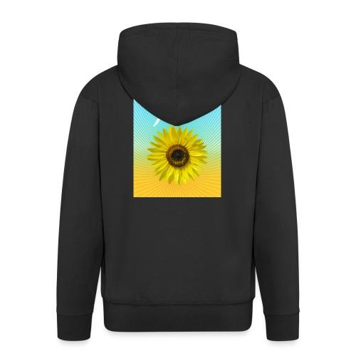 Sonnenblume Sommer Sonnenstrahlen glücklich hygge - Men's Premium Hooded Jacket