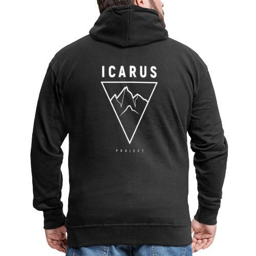 LOGO ICARUS blanc - Veste à capuche Premium Homme