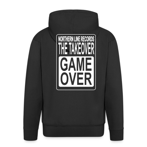 LARGE GAME OVER - Men's Premium Hooded Jacket