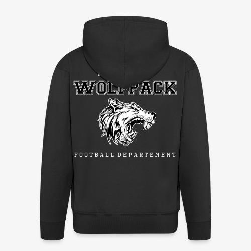 Wolfpack Wolfskopf Props - Männer Premium Kapuzenjacke