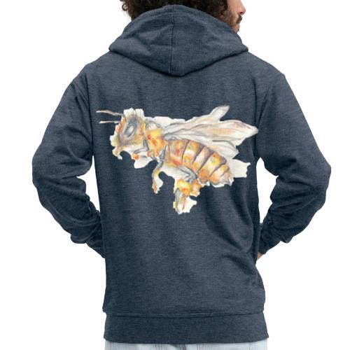 MG002 Bee | Honey | Save the Bees | Books bee - Men's Premium Hooded Jacket