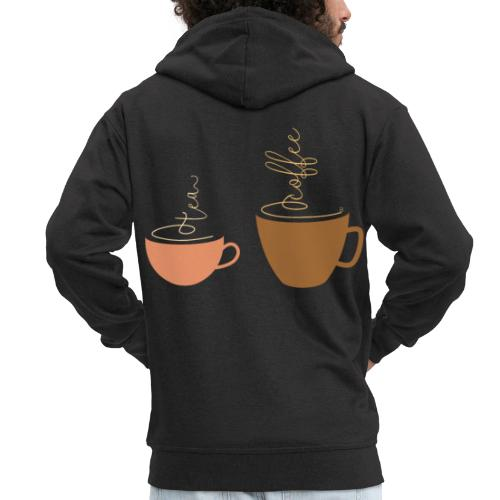 0254 Tea or coffee? That is the question! - Men's Premium Hooded Jacket