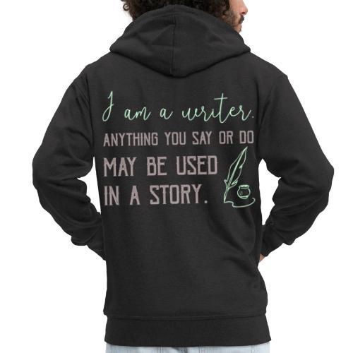 0267 History | Author | Writer | story - Men's Premium Hooded Jacket