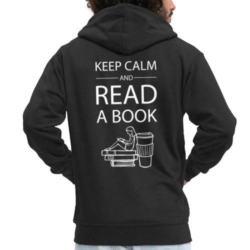 0274 Librarians | Keep Calm | Book | Read - Men's Premium Hooded Jacket
