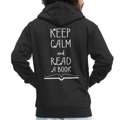 0277 Stay calm and read a book | Read - Men's Premium Hooded Jacket