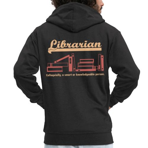 0333 Cool saying funny Quote Librarian - Men's Premium Hooded Jacket