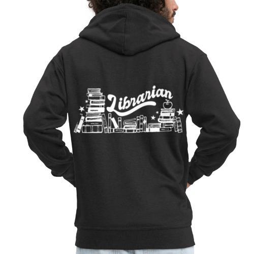 0323 Funny design Librarian Librarian - Men's Premium Hooded Jacket