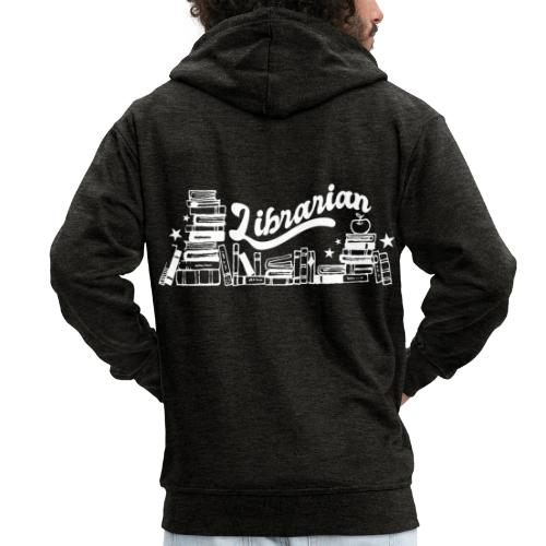 0323 Funny design Librarian Librarian - Men's Premium Hooded Jacket