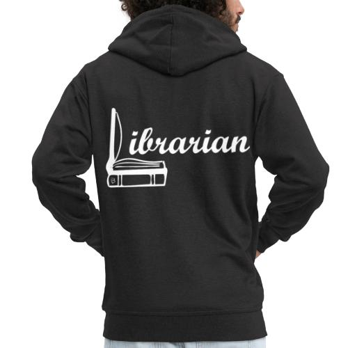 0325 Librarian Librarian Cool design - Men's Premium Hooded Jacket