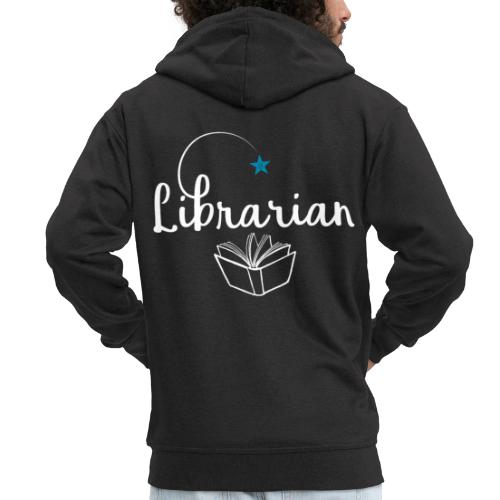 0328 Librarian Librarian Library Book - Men's Premium Hooded Jacket