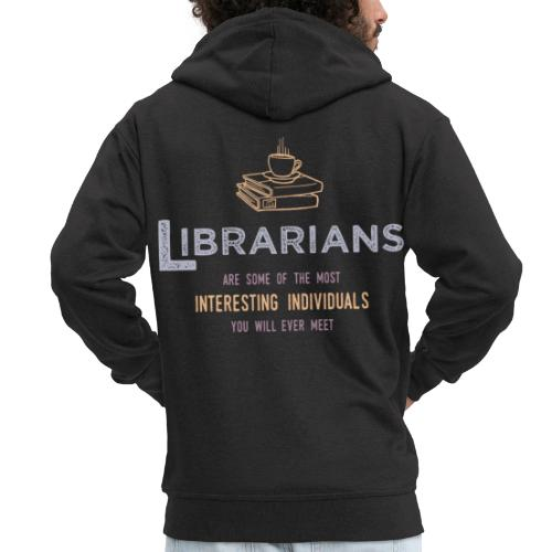 0336 Librarian & Librarian Funny saying - Men's Premium Hooded Jacket