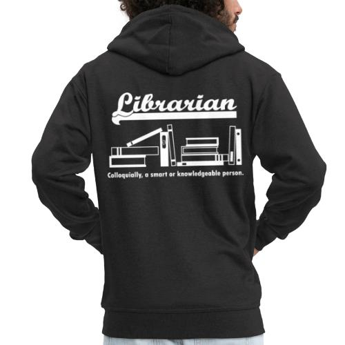 0334 Librarian Librarian Library Book - Men's Premium Hooded Jacket