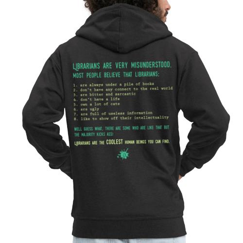 0339 Library, Librarians, Librarian - Men's Premium Hooded Jacket