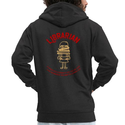0330 Librarian Librarian Library Book - Men's Premium Hooded Jacket