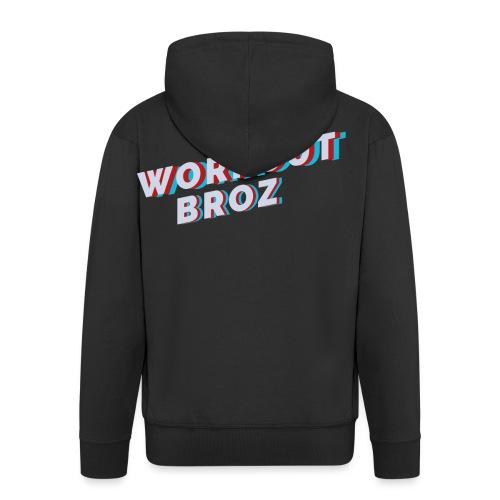 Official WorkoutBroz Logo - Men's Premium Hooded Jacket