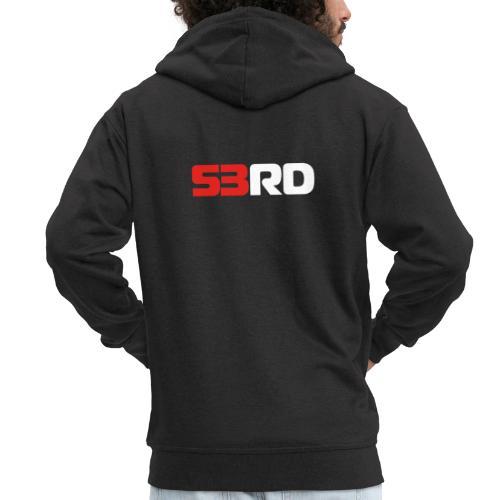 53RD Logo lang (weiss-rot) - Männer Premium Kapuzenjacke