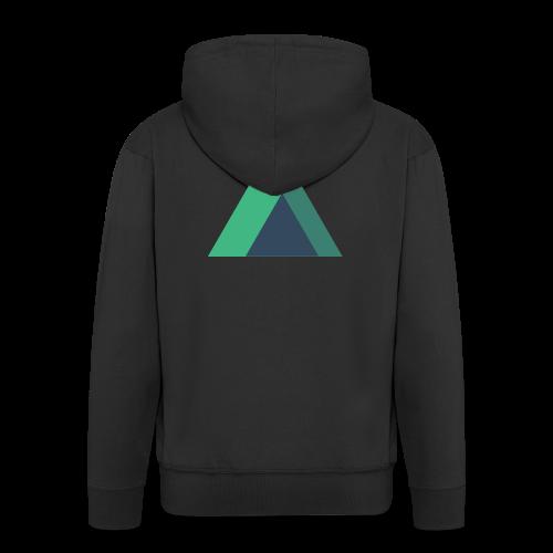 Mountain Logo - Men's Premium Hooded Jacket