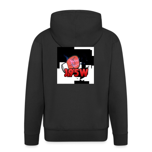 J95W Boxing Smash Design - Men's Premium Hooded Jacket