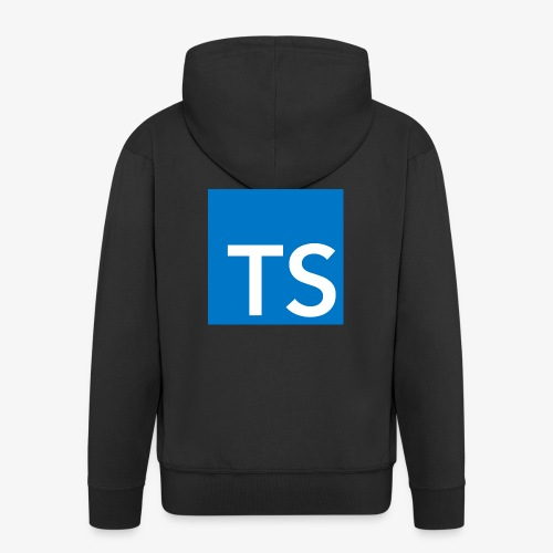 TypeScript Logo - Men's Premium Hooded Jacket
