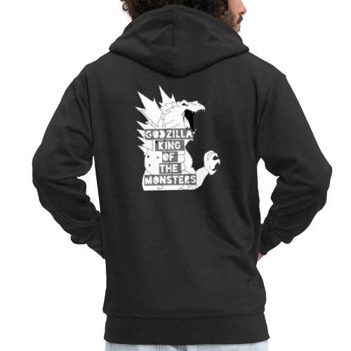 Godzilla - Rozpinana bluza męska z kapturem Premium