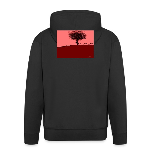 albero_0001-jpg - Felpa con zip Premium da uomo