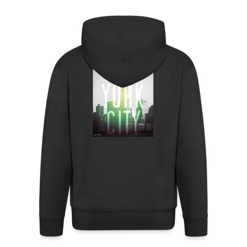 New York Green - Männer Premium Kapuzenjacke