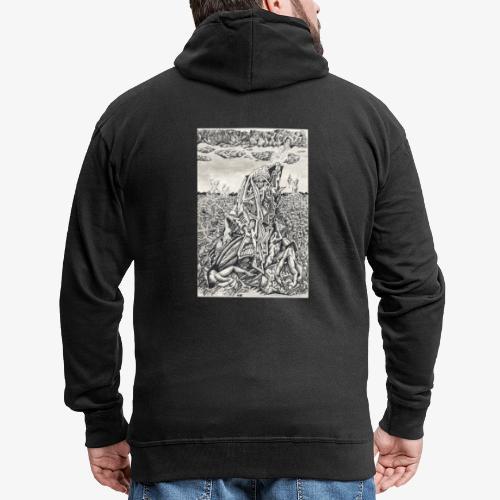 Intimidation by Brian benson - Men's Premium Hooded Jacket