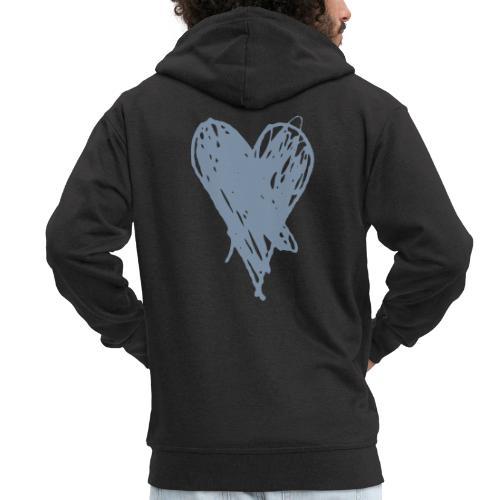 Cœur et amour pour dire je t'aime, i love you - Veste à capuche Premium Homme