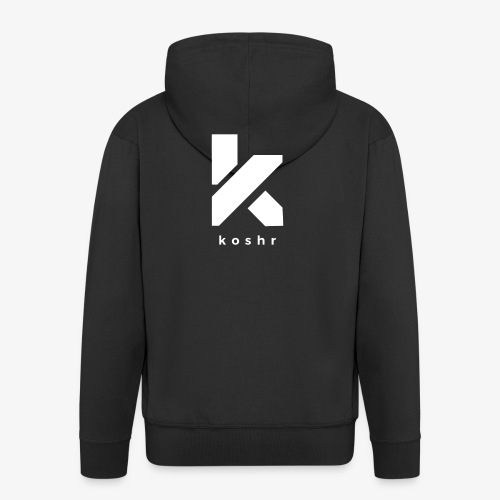 Koshr Official Logo - - Men's Premium Hooded Jacket