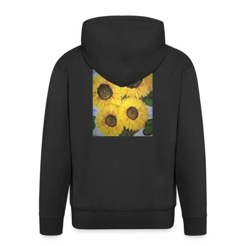 SonnenblumeIMG 20180815 090758 - Männer Premium Kapuzenjacke