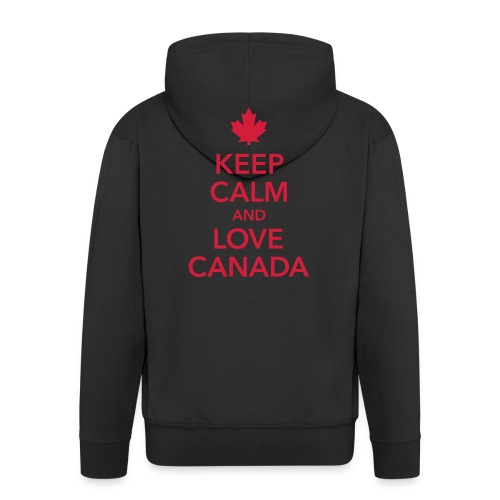 keep calm and love Canada Maple Leaf Kanada - Men's Premium Hooded Jacket