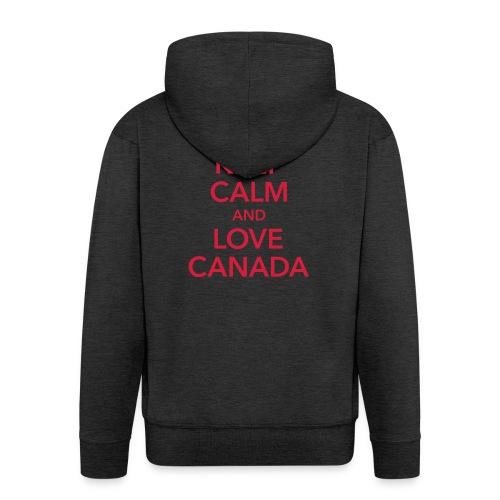 keep calm and love Canada Maple Leaf Kanada - Men's Premium Hooded Jacket