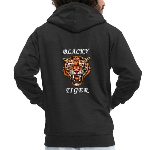 Blacky Tiger Design in Tattoo-Optik - Männer Premium Kapuzenjacke