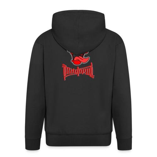 MAD SKULL - Deadpool - Felpa con zip Premium da uomo