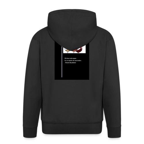 vino1 - Felpa con zip Premium da uomo