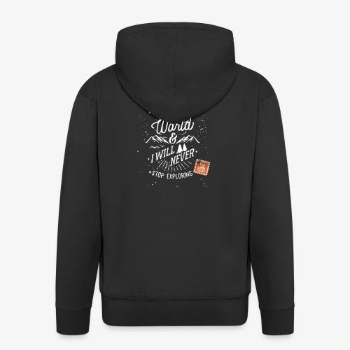 NEVERSTOPEXPLORING1 - Men's Premium Hooded Jacket