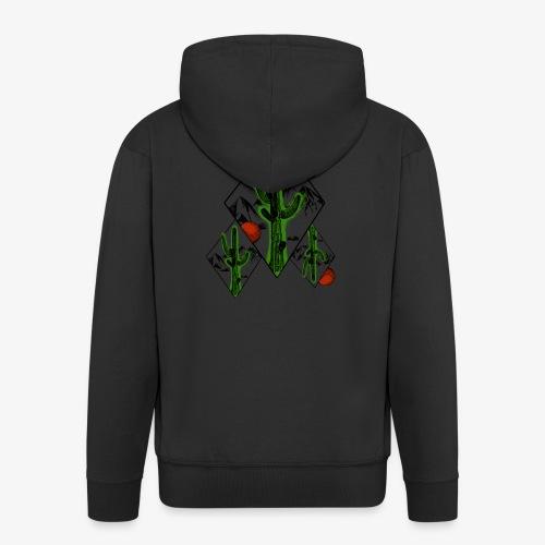 Kaktus - Männer Premium Kapuzenjacke