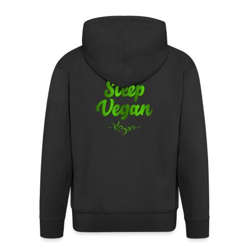 Eat Sleep Vegan - Miesten premium vetoketjullinen huppari