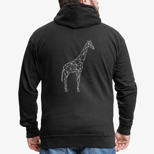 Giraffe Geometrisch weiss - Männer Premium Kapuzenjacke