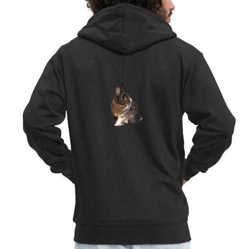 Coniglio - Felpa con zip Premium da uomo