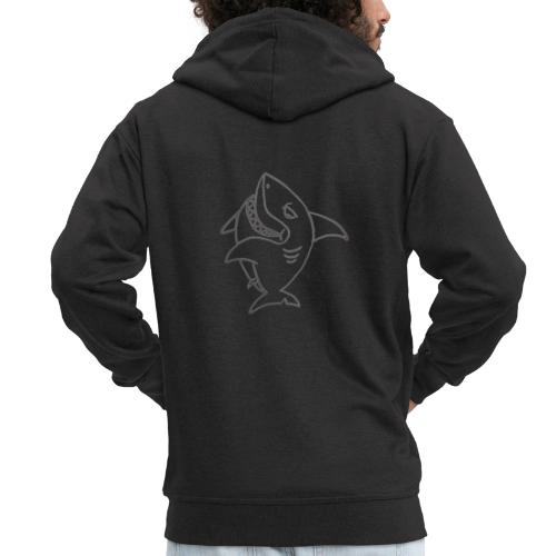 Shark - Rozpinana bluza męska z kapturem Premium