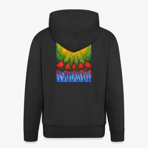 Nearer Sun - Rozpinana bluza męska z kapturem Premium