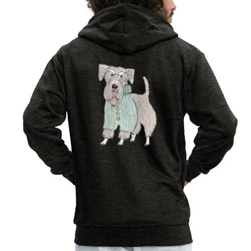 schnauzer with sweater - Herre premium hættejakke
