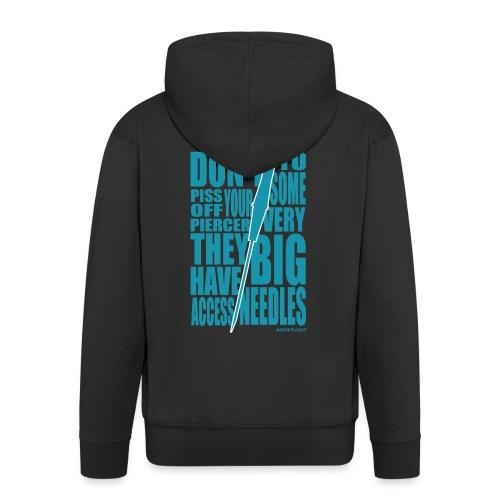 Needles Blue - Men's Premium Hooded Jacket