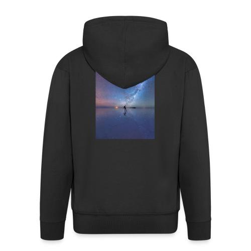 Człowiek i kosmos 6s Plus - Rozpinana bluza męska z kapturem Premium